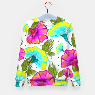 Thumbnail image of Ecstatic Floral Kid's Sweater, Live Heroes