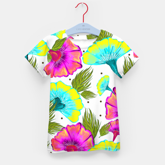 Thumbnail image of Ecstatic Floral Kid's T-shirt, Live Heroes