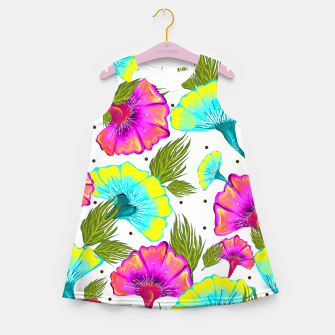 Thumbnail image of Ecstatic Floral Girl's Summer Dress, Live Heroes