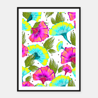 Thumbnail image of Ecstatic Floral Framed poster, Live Heroes