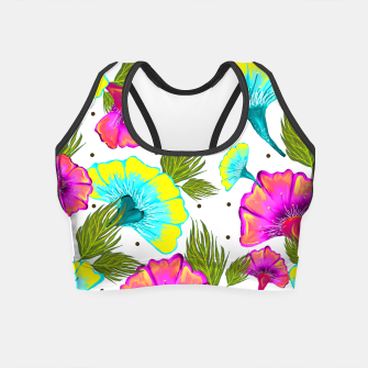 Thumbnail image of Ecstatic Floral Crop Top, Live Heroes