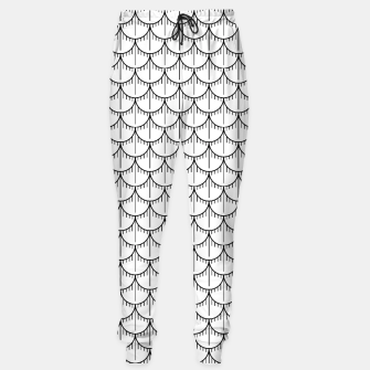 Imagen en miniatura de Feather Pattern - Black and White Sweatpants, Live Heroes