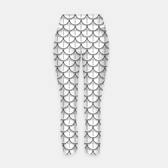 Miniatur Feather Pattern - Black and White Yoga Pants, Live Heroes