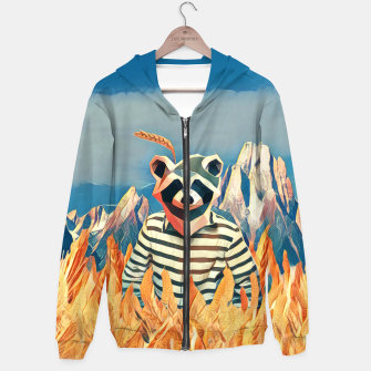 Thumbnail image of Raccoon in the wheat field Hoodie, Live Heroes