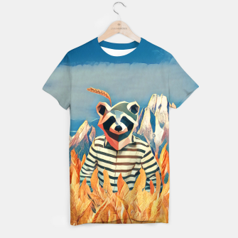 Thumbnail image of Raccoon in the wheat field T-shirt, Live Heroes