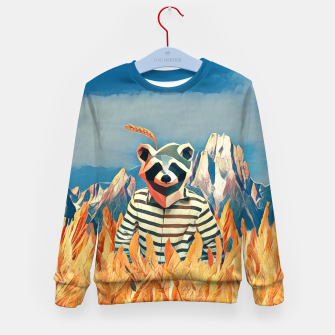Thumbnail image of Raccoon in the wheat field Kid's Sweater, Live Heroes