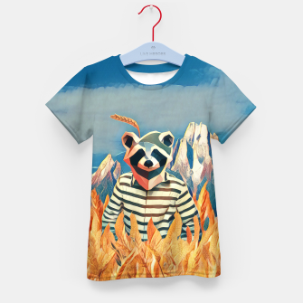 Thumbnail image of Raccoon in the wheat field Kid's T-shirt, Live Heroes