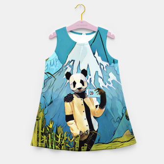 Miniatur Panda taking selfie Girl's Summer Dress, Live Heroes