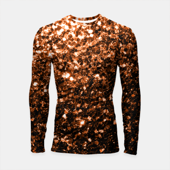 Thumbnail image of Beautiful  Orange Brown Bronze glitters sparkles Longsleeve Rashguard , Live Heroes