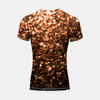 Thumbnail image of Beautiful  Orange Brown Bronze glitters sparkles Shortsleeve Rashguard, Live Heroes