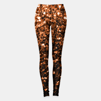 Thumbnail image of Beautiful  Orange Brown Bronze glitters sparkles Leggings, Live Heroes