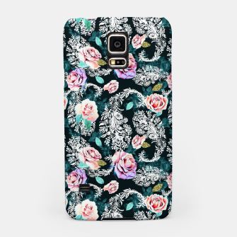 Miniatur Dark pattern of flowers and paisley Carcasa por Samsung, Live Heroes