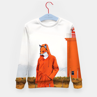 Thumbnail image of Foxy and the lighthouse Kid's Sweater, Live Heroes