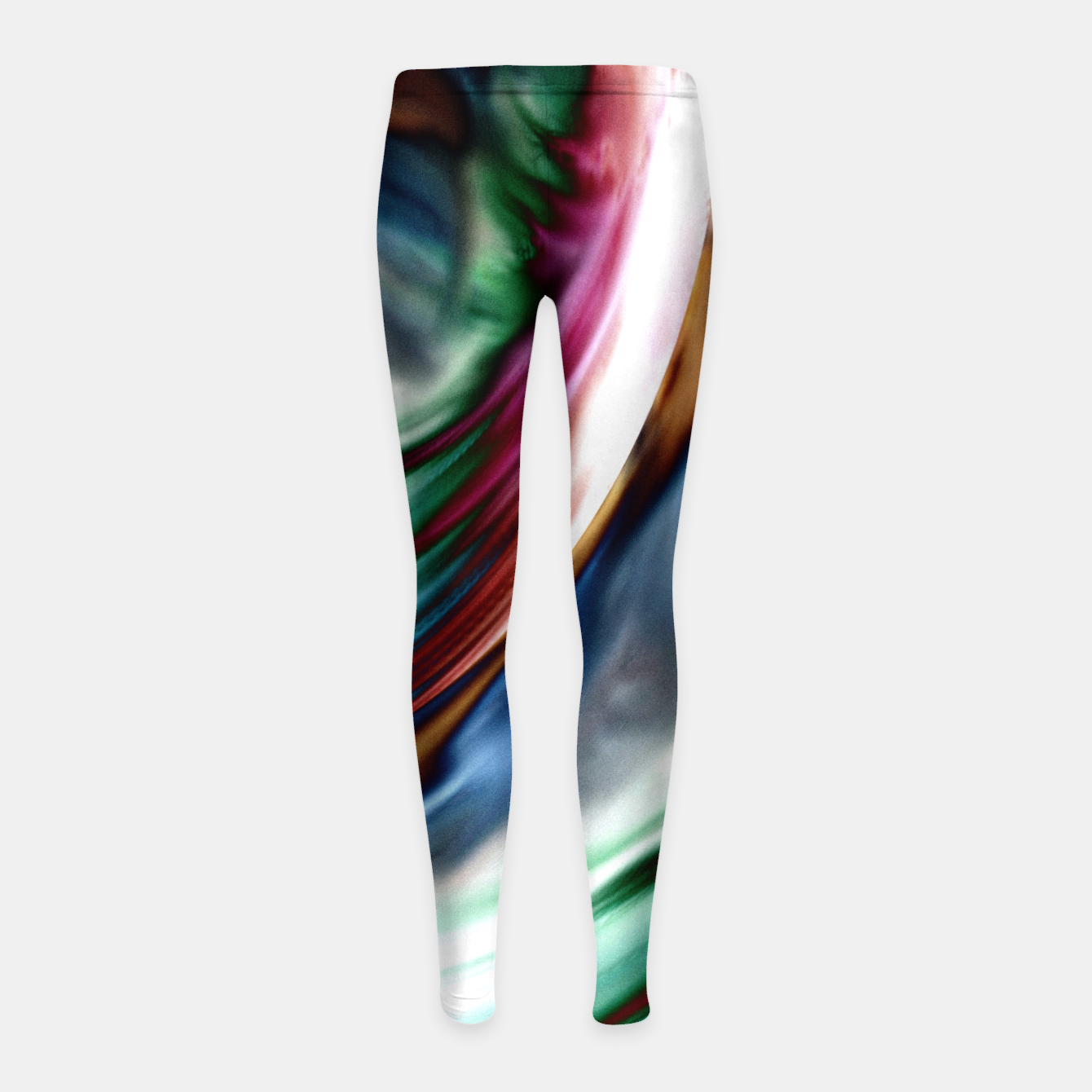 Image of Blue Valley Whirlwind Rainbow Girl's Leggings - Live Heroes
