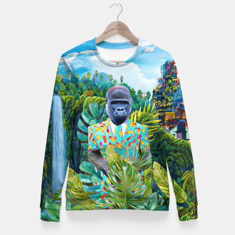 Thumbnail image of Gorilla in the Jungle Fitted Waist Sweater, Live Heroes