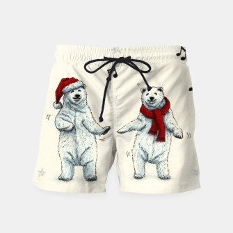 The polar bears wish you a Merry Christmas Swim Shorts Bild der Miniatur