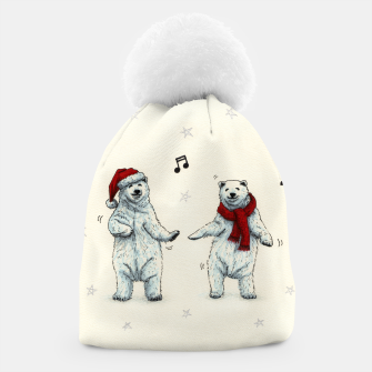 The polar bears wish you a Merry Christmas Beanie Bild der Miniatur