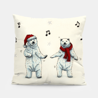 The polar bears wish you a Merry Christmas Pillow Bild der Miniatur