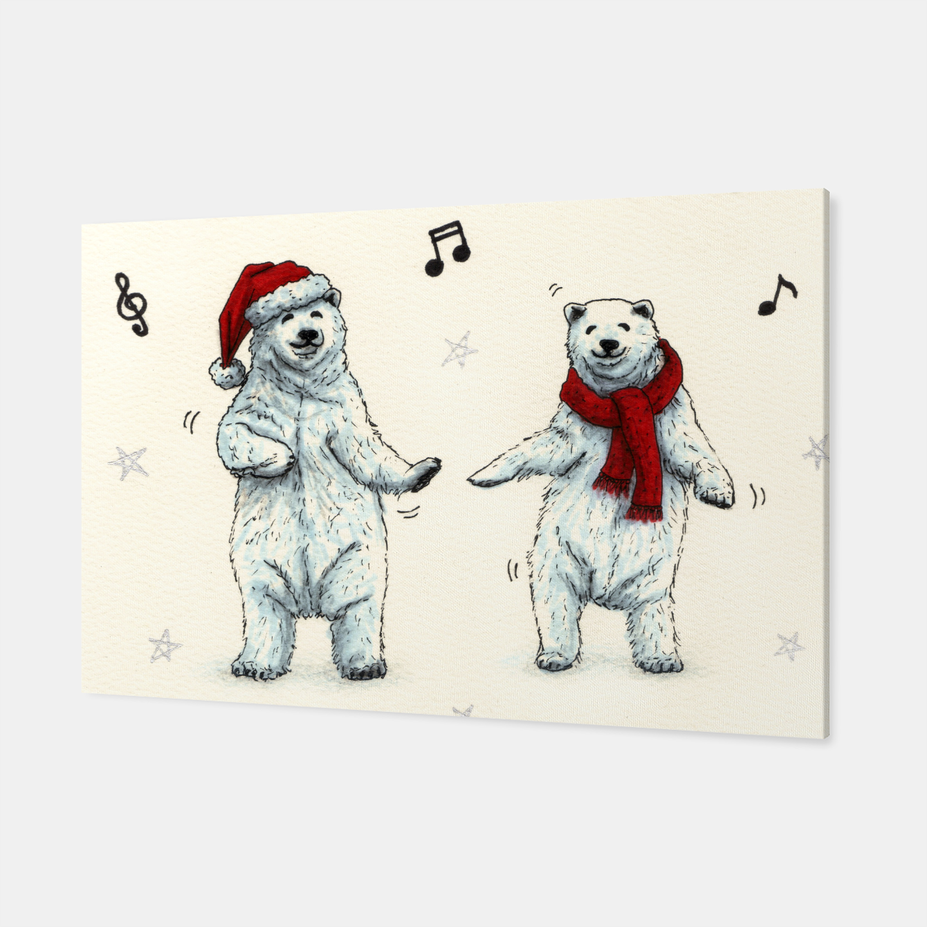 Foto The polar bears wish you a Merry Christmas Canvas - Live Heroes