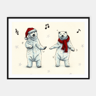 The polar bears wish you a Merry Christmas Framed poster Bild der Miniatur