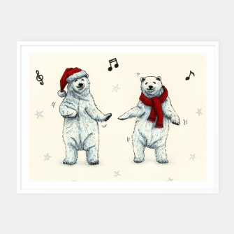Miniatur The polar bears wish you a Merry Christmas Framed poster, Live Heroes