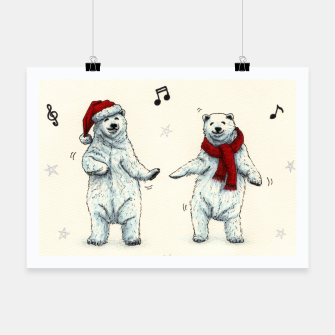 The polar bears wish you a Merry Christmas Poster Bild der Miniatur