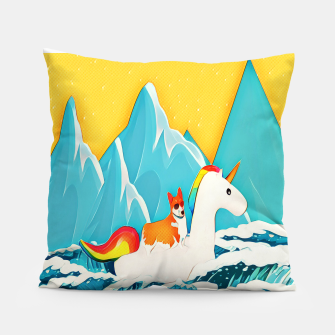 Thumbnail image of Corgi and unicorn  Pillow, Live Heroes