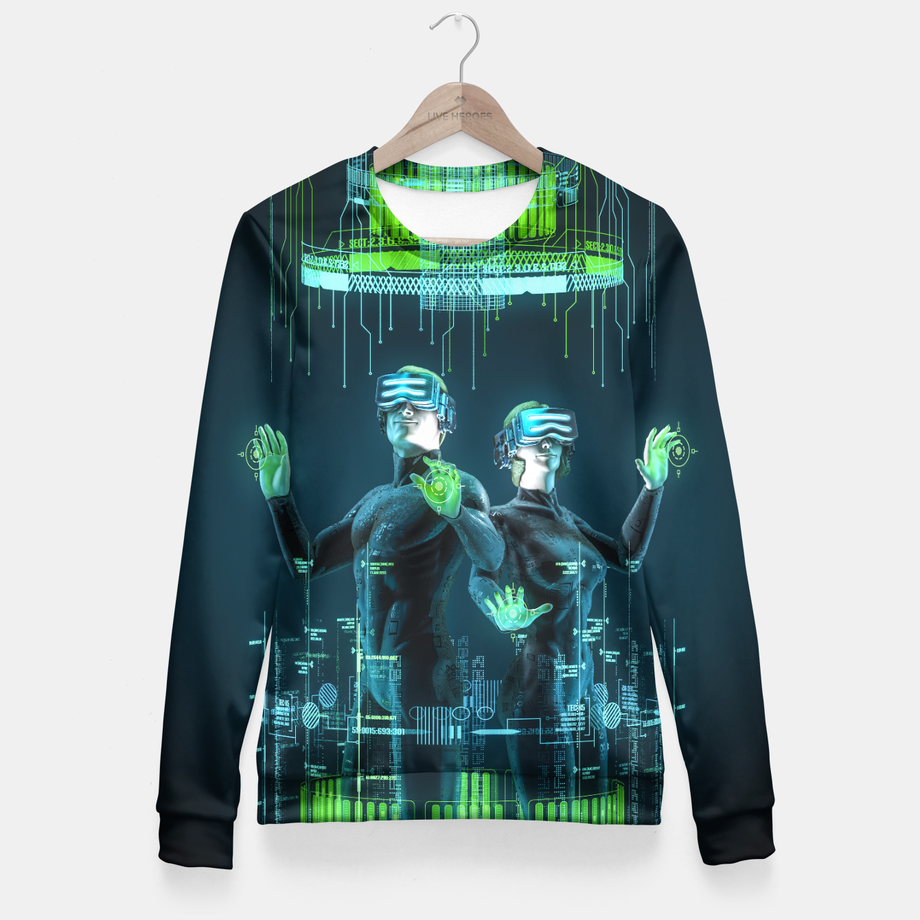 Image of Avatars Fitted Waist Sweater - Live Heroes