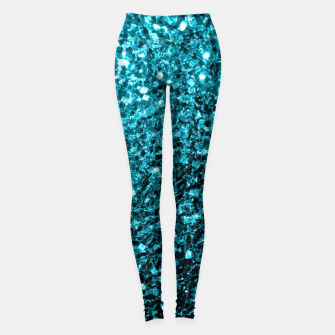 Thumbnail image of Beautiful Aqua blue glitter sparkles Leggings, Live Heroes