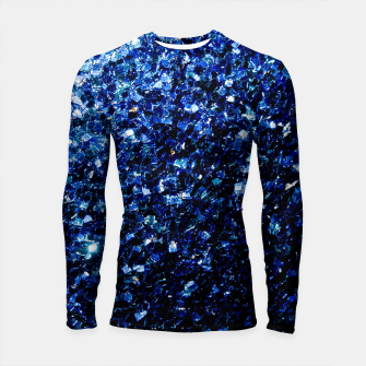 Thumbnail image of Beautiful Dark Blue glitter sparkles Longsleeve Rashguard , Live Heroes