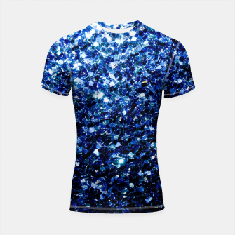 Thumbnail image of Beautiful Dark Blue glitter sparkles Shortsleeve Rashguard, Live Heroes