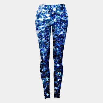Thumbnail image of Beautiful Dark Blue glitter sparkles Leggings, Live Heroes