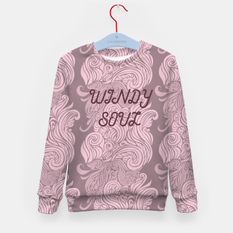 Thumbnail image of Windy soul trendy pink pattern Kid's Sweater, Live Heroes
