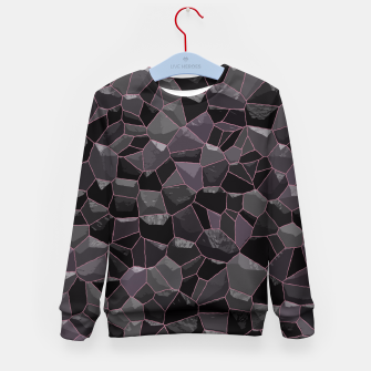 Miniatur Anthracite Kid's Sweater, Live Heroes