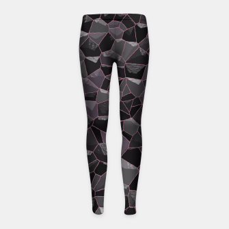 Anthracite Girl's Leggings Bild der Miniatur