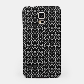 Miniatur Feather Pattern - White on Black Samsung Case, Live Heroes