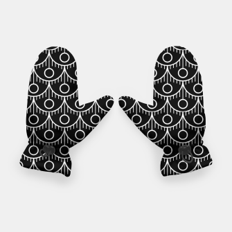 Miniatur Feather Pattern - White on Black Gloves, Live Heroes