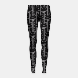 Guitar Hero B&W Girl's Leggings Bild der Miniatur