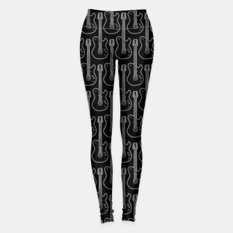 Guitar Hero B&W Leggings Bild der Miniatur