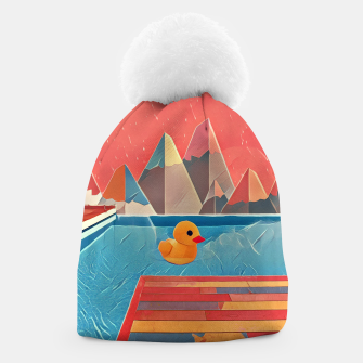 Thumbnail image of Little duck swimming in the pool Beanie, Live Heroes