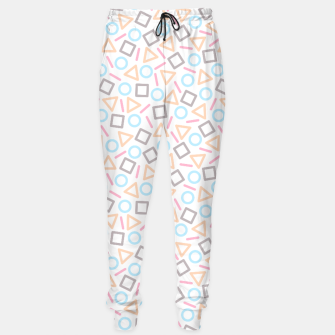 Imagen en miniatura de Geometric Shapes Pattern (White) Sweatpants, Live Heroes