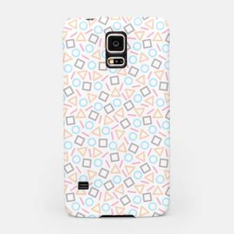 Miniatur Geometric Shapes Pattern (White) Samsung Case, Live Heroes