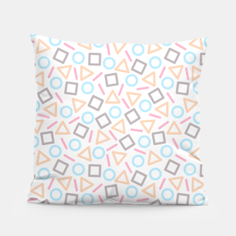 Miniaturka Geometric Shapes Pattern (White) Pillow, Live Heroes