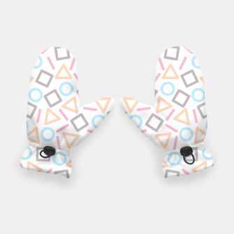 Miniatur Geometric Shapes Pattern (White) Gloves, Live Heroes