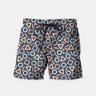 Thumbnail image of Geometric Shapes Pattern (Black) Swim Shorts, Live Heroes