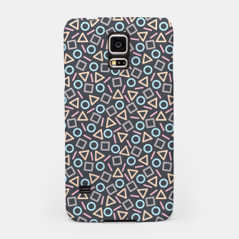 Thumbnail image of Geometric Shapes Pattern (Black) Samsung Case, Live Heroes