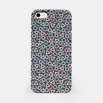Thumbnail image of Geometric Shapes Pattern (Black) iPhone Case, Live Heroes