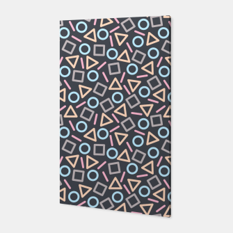 Thumbnail image of Geometric Shapes Pattern (Black) Canvas, Live Heroes