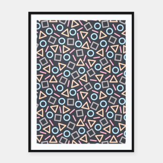 Thumbnail image of Geometric Shapes Pattern (Black) Framed poster, Live Heroes