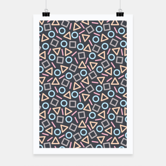 Thumbnail image of Geometric Shapes Pattern (Black) Poster, Live Heroes